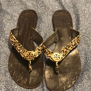 Tory Burch cheetah sandals